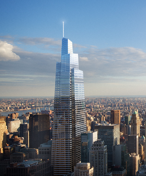 An aerial shot of One Vanderbilt